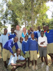 Glenda and Roger with a group from Kenya
