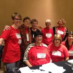 picture of 8 women Celebrating Sherna Berger Gluck, OHA, Long Beach, California, 2016