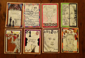 Collage of hand drawn portraits