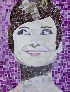 mosaic portrait of a woman